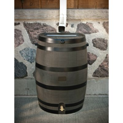Rain Barrel in Wood Grain