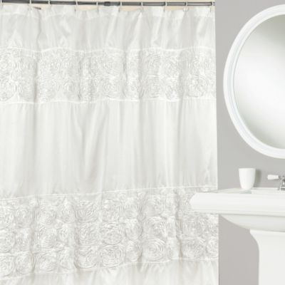 Rosette 72-Inch x 72-Inch Shower Curtain