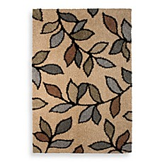 Orian Shagadelic Leaf Beach House Rectangle Rug