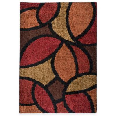 Orian Shagadelic Bloom Petal Rouge 7-Foot 10-Inch x 10-Foot 10-Inch Rug