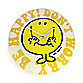 Mr. Happy Don't Worry Wall Clock