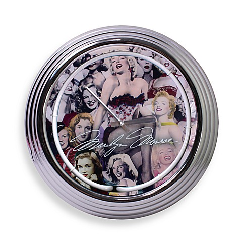 Marilyn Monroe Neon Wall Clock