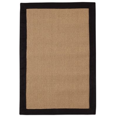 Halden Border Area Rug in Black