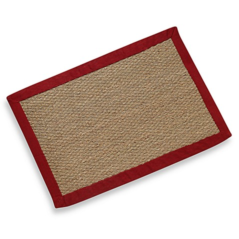 Modena Village Collection Rug 5-Foot x 8-Foot in Red/Natural