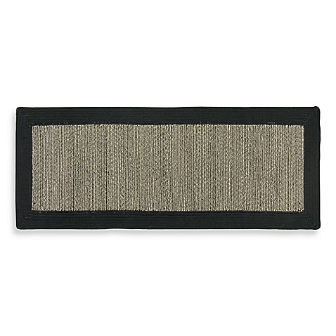 Black Border Braid Tweed 2-Foot 6-Inch x 4-Foot 2-Inch Rug