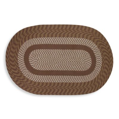 Cambridge 6-Foot Round Braided Rug in Brown