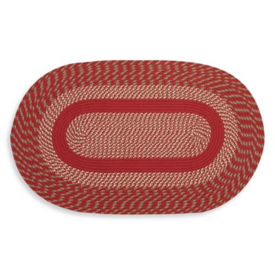 Red Cambridge Braided Rug