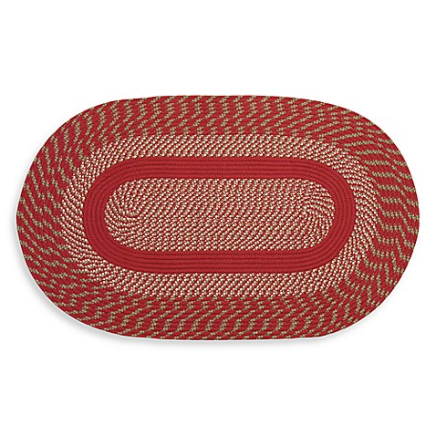 Red Cambridge 6-Foot Braided Rug Round