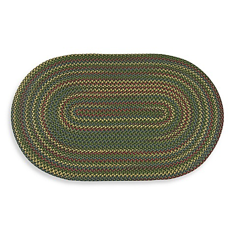 Olive Monticello Braided 1-Foot 8-Inch x 2-Foot 6-Inch Area Rug