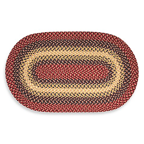 Westerly 6-Foot Round Braided Rug in Cranberry