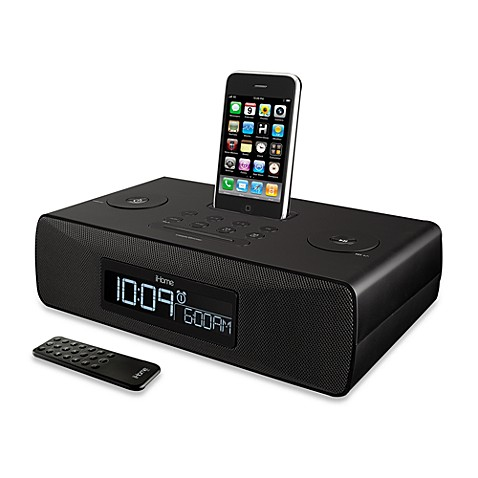 ihome digital tuning stereo dual alarm clock radio for your iphone ipod bed bath beyond. Black Bedroom Furniture Sets. Home Design Ideas