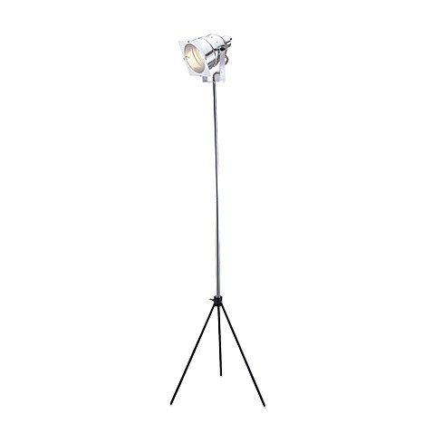 Adesso® Steel Spotlight Floor Lamp with Adjustable Height