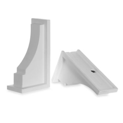 Fairfield Window Box Decorative Supports in White (Set of 2)