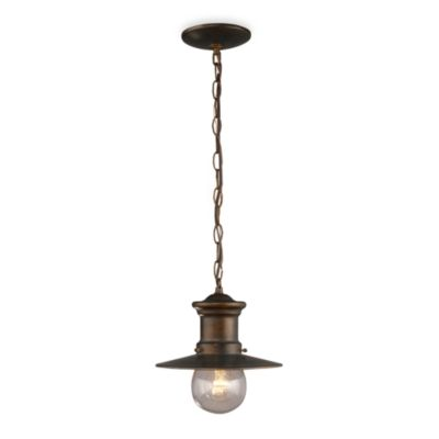 ELK Lighting Maritime One-Light Outdoor Pendant