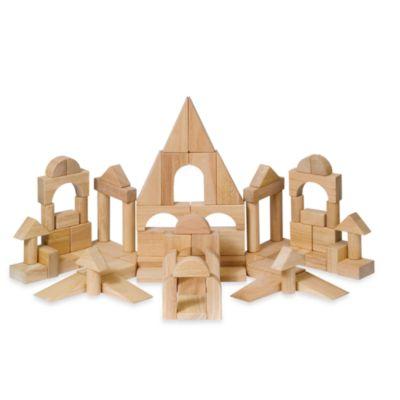 Guidecraft Kindergarten Unit Blocks in 76 Pieces