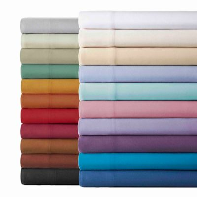 Micro Flannel® Solid Full Sheet Set in Chocolate