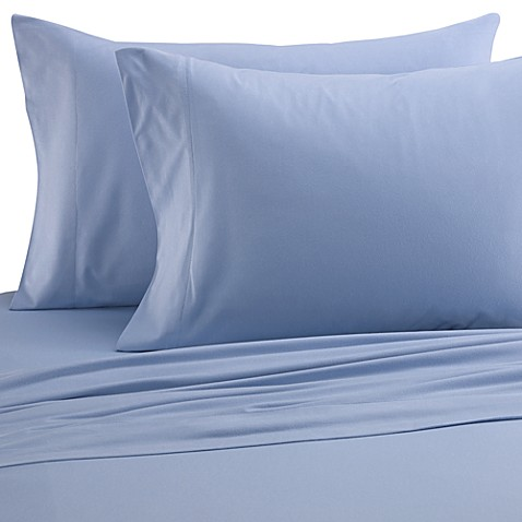 Micro Flannel® Solid Queen Sheet Set in Wedgwood