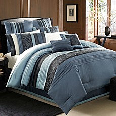 Manor Hill® Cleo Sapphire 8- Piece Complete Bed Ensemble