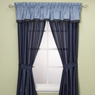 Manor Hill® Cleo Sapphire 84-Inch Window Curtain Panel Pair