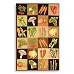 Safavieh Vintage Veggie Poster Wool 6-Foot x 9-Foot Rectangle Rug