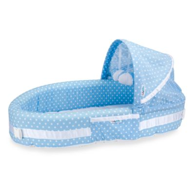 LulyBoo® Baby Lounge & Travel Bed in Blue Dots