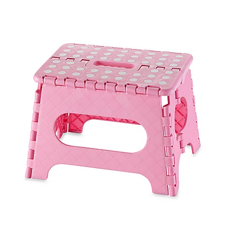Kikkerland 174 Easy Fold 9 Quot Plastic Step Stool Pink