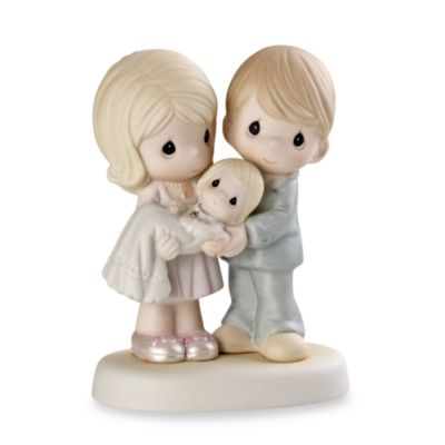 "Precious Moments® Parents Holding"" Baby Porcelain Figurine"