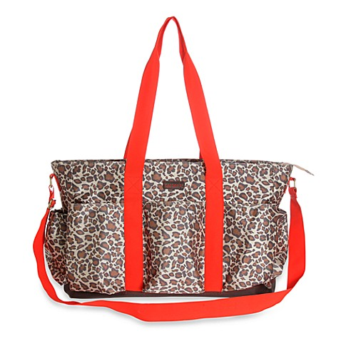 Carter's® Nylon Cheetah Print Tote Diaper Bag