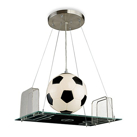 ELK Lighting 1-Light Pendant with Soccer Field Motif