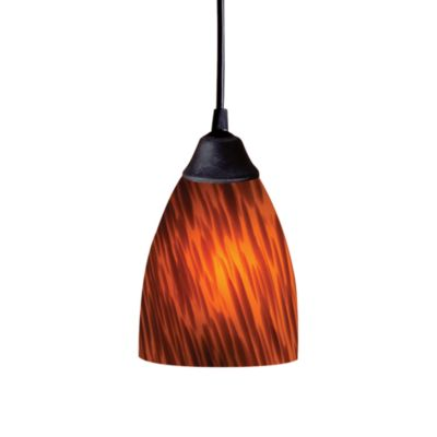 ELK Lighting 1-Light Espresso Glass
