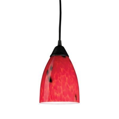 ELK Lighting 1-Light Red Glass Pendant