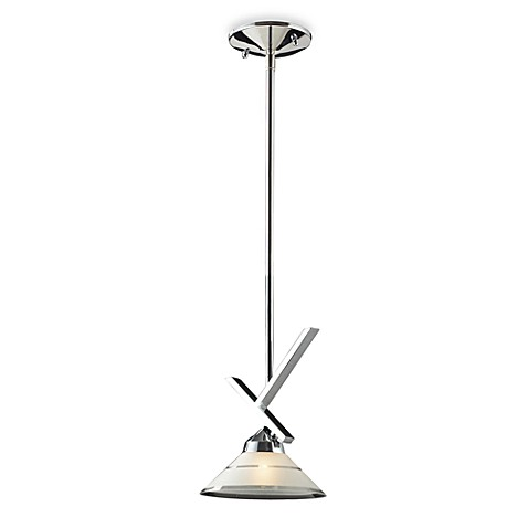 ELK Lighting 1-Light Large Pendant with Polished Chrome and Etched Clear Glass
