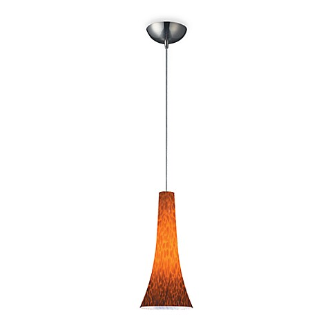ELK Lighting 1-Light Pendant in Satin Nickel with Fluted Espresso Glass Shade