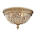 ELK Lighting Trump Home™ Renaissance 2-Light Flush Mount in Dark Bronze and Crystal Accents