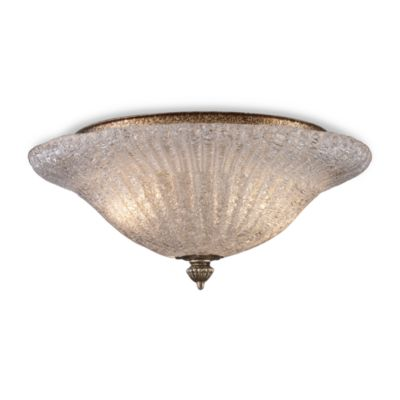 ELK Lighting Providence 2-Light Flush Mount in Silver Leaf