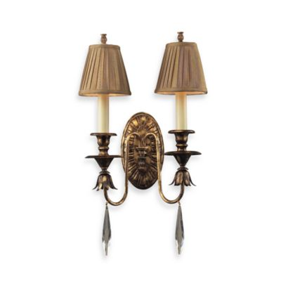 ELK Lighting Trump Home™ Bedminster 2-Light Sconce in Burnt Gold Leaf Finish