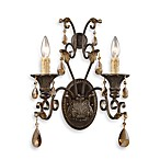 ELK Lighting Trump Home™ Rochelle 2-Light Sconce with Amber Crystal
