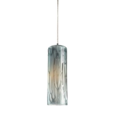 ELK Lighting Maple 1-Light Pendant in Satin Nickel with Maple Dusk Shade