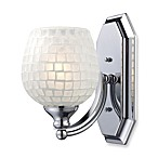 ELK Lighting 1-Light Vanity Fixture in Polished Chrome and White Mosaic Glass