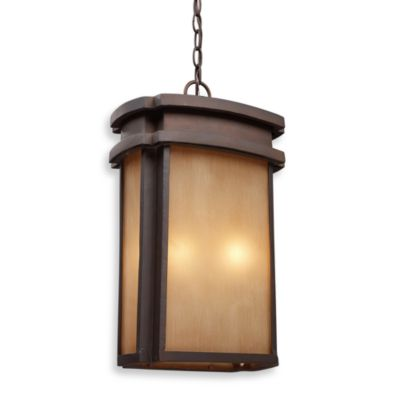 ELK Lighting Sedona 2-Light Outdoor Pendant in a Clay Bronze Finish