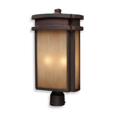 ELK Lighting Sedona 2-Light Outdoor Post Light Fixture in Clay Bronze