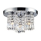 ELK Lighting Optix 3-Light Flush Mount in Polished Chrome