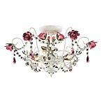 ELK Lighting 3-Light Semi Flush In Antique White