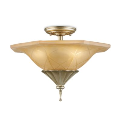 ELK Lighting Trump Home™ Chelsea 3-Light Semi Flush With Embedded Crystal