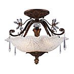 ELK Lighting Emilion 3-Light Semi-Flush Mount in Burnt Bronze