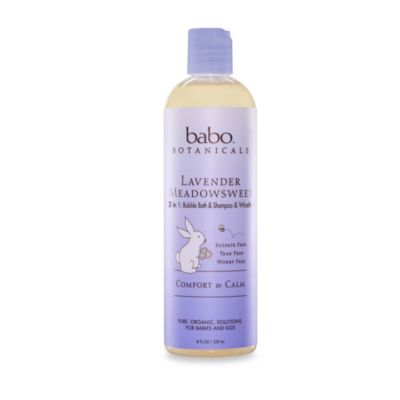 babo botanicals™ Lavender Meadowsweet - 3-in-1 Bubble Bath, Shampoo and Body Wash (12 ounces)
