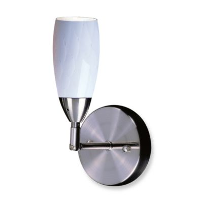 ELK Lighting Milan 1-Light Wall Bracket In Satin Nickel And Simply White Glass