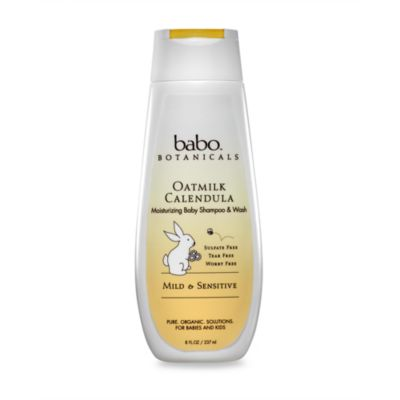 babo botanicals™ Oatmeal Calendula - Moisturizing Baby Shampoo and Wash (8 ounces)