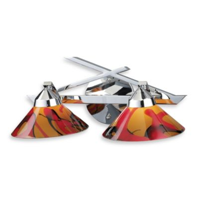 ELK Lighting Refraction 2-Light Wall Bracket in Polished Chrome with Jasper Glass Shades