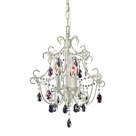 ELK Lighting Elise 3-Light Chandelier in Antique White